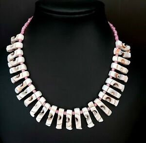 Pink Shell Statement Necklace