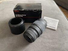 Sigma 70-300mm F4-5.6 DG MACRO AF Telephoto Zoom Lens 4 Canon + F/R Caps & Hood