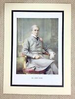 1899 Antico Stampa Ritratto Di John Hare Inglese Attore Teatro Manager London