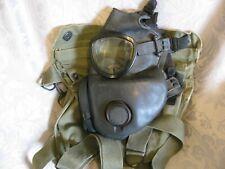 More details for original us army m 17 gas mask with m 9a1 field bag vietnam era medium