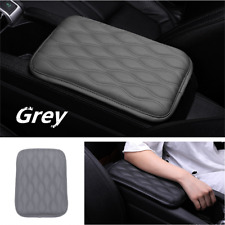 Universal Car SUV Armrest Pad Cover Auto Center Console PU Leather Cushion Gray