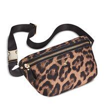 NWT! Michael Kors Leopard Animal Print Nylon Belt Bag Fanny Pack One Size