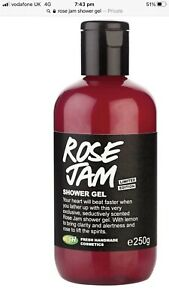 Lush Rose Jam Shower Gel 250g New