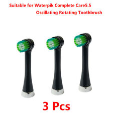 3x OTRB-3WB Replace Brush Heads for Waterpik Complete Care 5.5 Toothbrush(Black)
