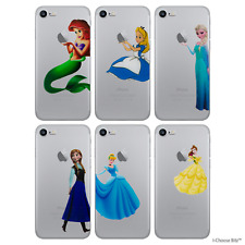Disney Cute Princess Soft Gel Case/Cover for Apple iPhone SE / Screen Protector