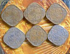 6 Coins YEAR SET - 1/2 A - George VI - 1942 1943 1944 1945 1946 1947