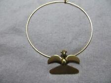 Smithsonian Institute Alva Museum Mayan Aztec Bird Gold Plated Collar necklace