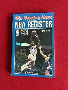 """1981, Julius (DR.J.) Erving, """"Autographed"""" (JSA) """"NBA REGISTER"""" Book (Scarce)"""