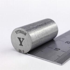 Yttrium Metal Rod 99.9% 10 diameter x 20mm length 7.1grams Element Y Specimen
