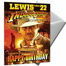 INDIANA JONES - PERSONALISED  Birthday Card Large A5