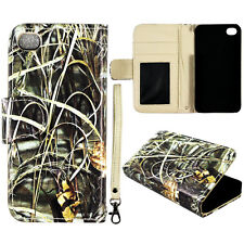 Sawgrass  Wallet Flip magnet For Apple iphone 4 4S S Leather case cover