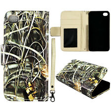 Sawgrass  Wallet Flip magnet For Apple iphone 4 4S PU Leather case cover