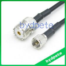 Mini UHF male to UHF female SO239 RF RG58 Coaxial Coax Cable 50ohm 20inch 50cm