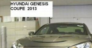 Lebra Hood Protector Mini Mask Bra Fits 2013-2016 Hyundai Genesis Coupe