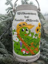 Milchkanne,20-L.handbemalt-2 Motive-lustiger Frosch+1 Wunschmotiv -Bestellung