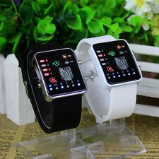 Hot Anime Attack On Titan LED Electronic Watch Binary Glass Wristwatch &Calendar