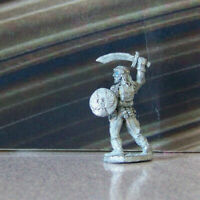 Rare Mini Vintage Dungeons & Dragons Metal Miniature D&D Warrior w Cool Shield