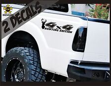 4x4 Decals, MATTE BLACK Set for Ford F150 Super Duty CAMO Deer Hunting