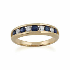 Anelli di lusso blu tondi Diamante