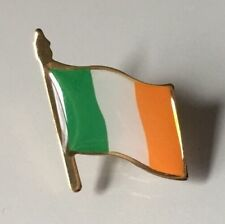 IRELAND  FLAG LAPEL PIN *MADE IN USA* Hat Tie Vest Pinback St. Patrick's Day