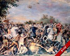 ANCIENT ROME & ETRUSCAN WARS PAINTING ROMAN SPQR REPUBLIC ART REAL CANVAS PRINT