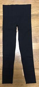 womens SPANX sara blakely black seamless leggings pants size xs