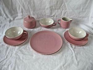 Konvolut Melitta Rosa Teller Tassen Pastell Vintage Keramik 60er Jahre