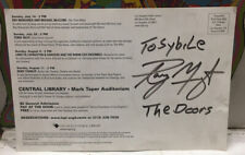 Ray Manzarek Autogroaphed Soundings 2002 Performance Series Program