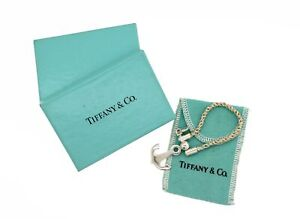 Vintage Tiffany & Co 925 Sterling Silver Sea Anchor Nautical Keychain Box Pouch