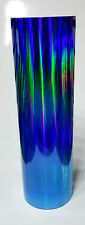"Sky Blue Rainbow Oil Slick Vinyl 24"" x 30 ft"