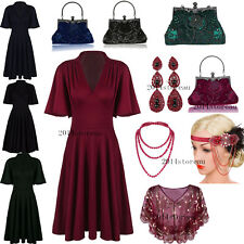 50's Style Dress Rockabilly Swing Dress Vintage Strenthy Cocktail 20s Prom Gowns