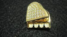 Swarovski Swan Signed  Pave`Crystal Black Enamel Baby Grand Piano Brooch  091