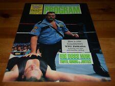 WWF PROGRAM * V. 187 * Wrestling Magazine * THE BIG BOSS MAN * WORLD FEDERATION