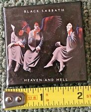 1980 VINTAGE ALBUM/PROMO PIN/BUTTON *BLACK SABBATH* HEAVEN AND HELL 'M' FREE S&H