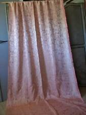 French Embroidery Lampas Pink Silk Boudoir Drape