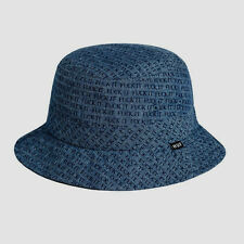 HUF FU*K IT CHAMBRAY BLK BUCKET HAT SIZE S/M