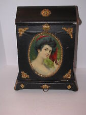 VINTAGE THE NEW IDEA PHOTO PHOTOGRAPH ALBUM CABINET FRAME WITH PICTURE