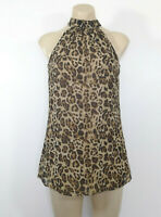 GEORGE Womens Blouse Stretch Top Animal Print Size 8 UK EUR 36