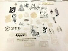 Lot 50 Photopolymer Rubber Stamps Snow Holiday Christmas Winter