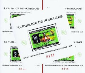 🤑 wholesale$$ HONDURAS 1968 JFK KENNEDY x5 S/S MNH SPACE, ITU/UIT (TOO CHEAP?)