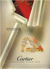 ▬► PUBLICITE ADVERTISING AD Montre Watch CARTIER Jewellers  1994