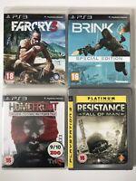 PS3 Game Bundle - FarCry 3 + Brink + Resistance + Homefront (766)