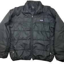 Patagonia Mens Large Black Nano Puffer Jacket Coat USA 84023 Vintage