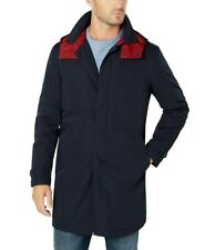 Tommy Hilfiger Mens Jacket Blue Size 40S Rainwear Hooded...