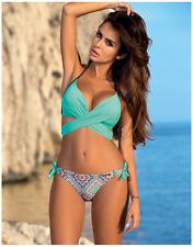2017 Bikini ANABEL Push-up Mint Graphite Aztec High Quality GABBIANO UK10 38C/M