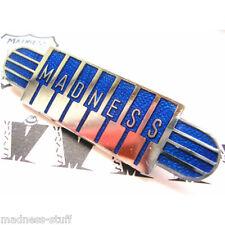 MADNESS - BLUE PIANO LOGO DIAL-A-STYLE ENAMEL BADGE - SUGGS SKA TWO TONE STIFF
