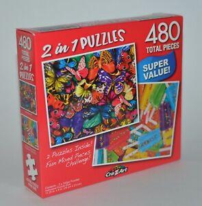 Crazart 2 IN 1 Mariposas Verano Popscicles Puzle Rompecabezas 480 Piezas Total