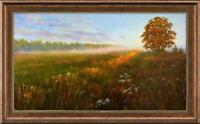 """Hand-painted Original Oil painting art landscape path tree On Canvas 24""""x40"""""""