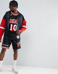 Mitchell & Ness Miami Heat 1996-97 Hardaway Black NBA GOLD LOGO Swingman Shorts