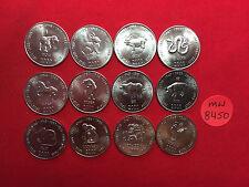 mw8450 Somalia; 10 Shillings 2000 - 12 Coins Set - Chinese Astrology -Zodiac  BU